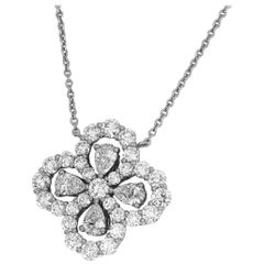 Harry Winston Loop by Full Motif 1.94 Carat Diamond Platinum Pendant Medium
