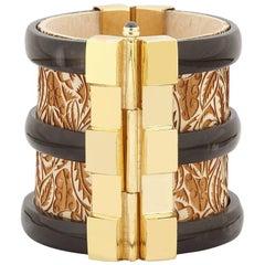 Bracelet Cuff Emerald Ruby Gold Horn Sapphire