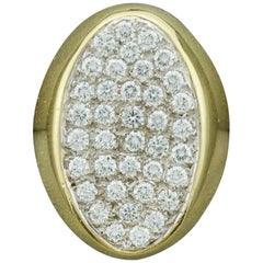 Pave Diamond Ring in 18 Karat 2.00 Carat in 18 Karat