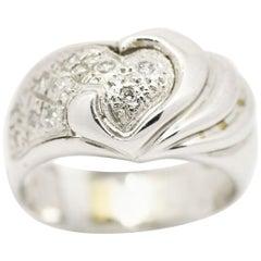 Morris & David 14 Karat White Gold 0.17 Carat Diamond Dome Ring