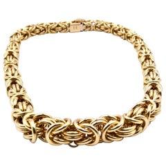 18 Karat Yellow Gold Turkish Style Necklace