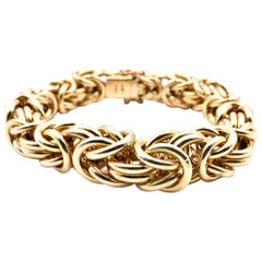18 Karat Yellow Gold Turkish Style Bracelet