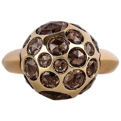 Pomellato 18 Karat Yellow Gold Smoky Quartz Harem Ring