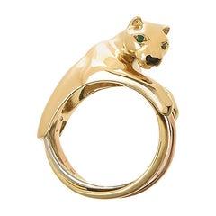 Cartier Yellow PanthÈre De Gold Onyx Ring