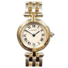 Cartier Panther Ronde Ladies Yellow Gold and Stainless Steel Quartz Wristwatch