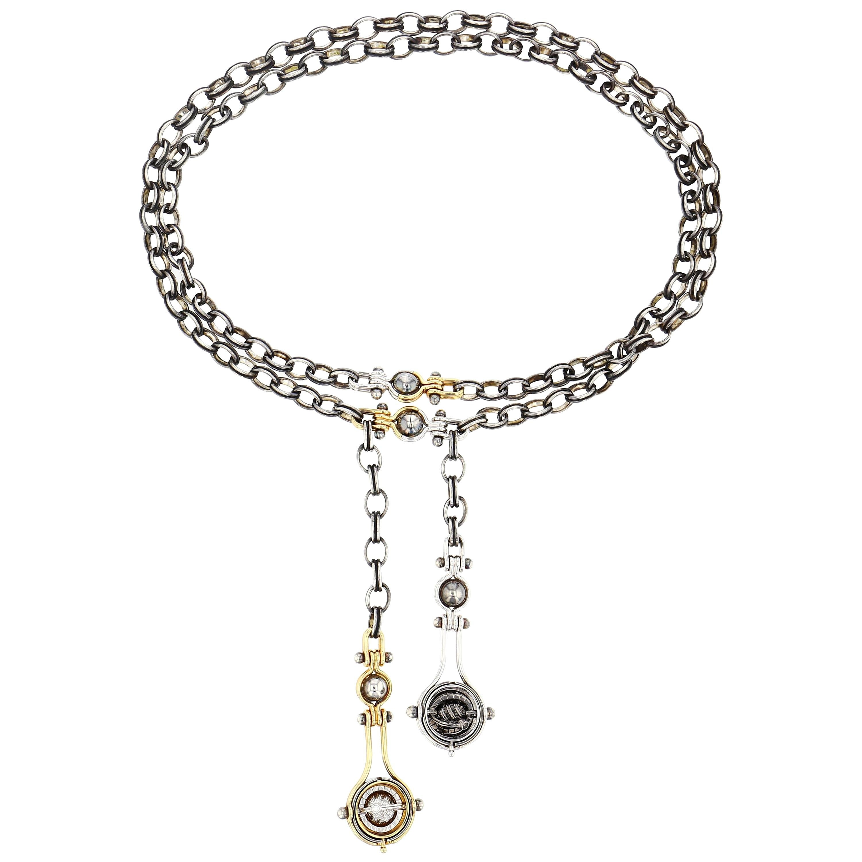 Diamond Drops Necklace by Elie Top