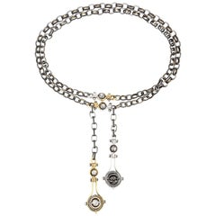 Diamond Drops Necklace by Elie Top