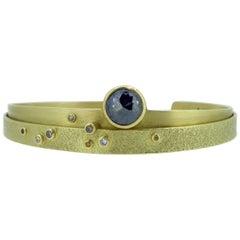Contemporary 1.28 Carat Diamond Bangle, 18 Carat Gold, Edinbugh 2013, Modern