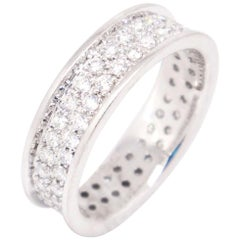18 Karat White Gold 0.75 Carat Round Diamond Eternity Band Ring
