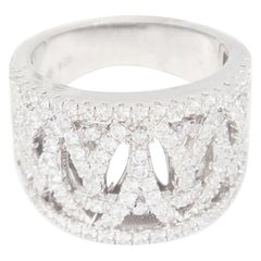 Sterling Silver Pavé Open Intertwined Swarovski Crystal Ring