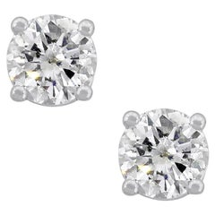 Round Brilliant Diamond Earring Studs