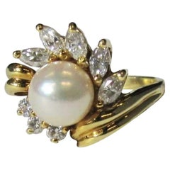 Pearl and Diamond Ring, Black, Starr & Frost
