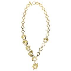18 Karat Charles Turi Animal Star Necklace with Diamonds and Gemstones