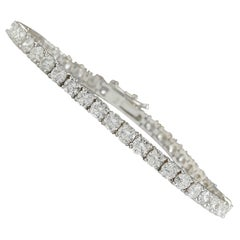 4.50 Carat Natural Diamond 18 Karat Solid White Gold Tennis Bracelet