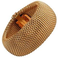 1960s Wide Golden Bracelet
