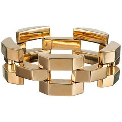 Tiffany & Co. Retro Gold Link Bracelet