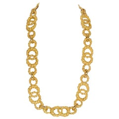 Moboco 18 Karat Yellow Gold Vintage Necklace
