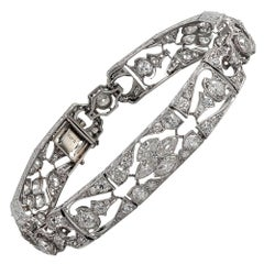 Open Work Art Deco Diamond Bracelet