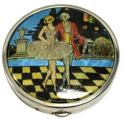 Art Deco Foil Ladies Powder Compact, 1930s