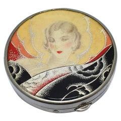 Art Deco 1930s Enamel Compact