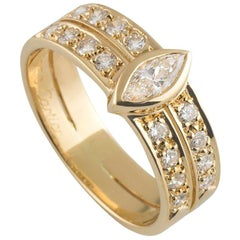 Cartier Marquise Cut Diamond Band Ring