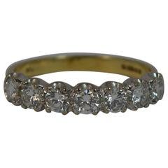 VS 0.75 Carat Diamond 18 Carat Gold Half Eternity Stack Ring