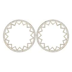 White Diamond White Gold Earrings