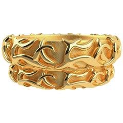 18 Karat Yellow Wedding Rings Set