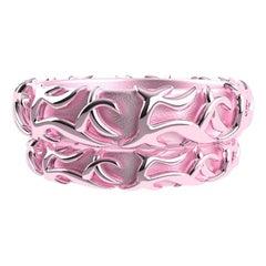 18 Karat Pink Wedding Ring Set