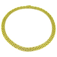 Mauboussin Yellow Gold Five-Row Link Necklace