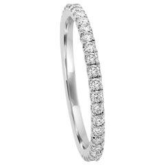 Round White Diamond Gold Bridal Eternity Band Ring