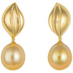 Mikimoto Golden South Sea Pearl Earrings