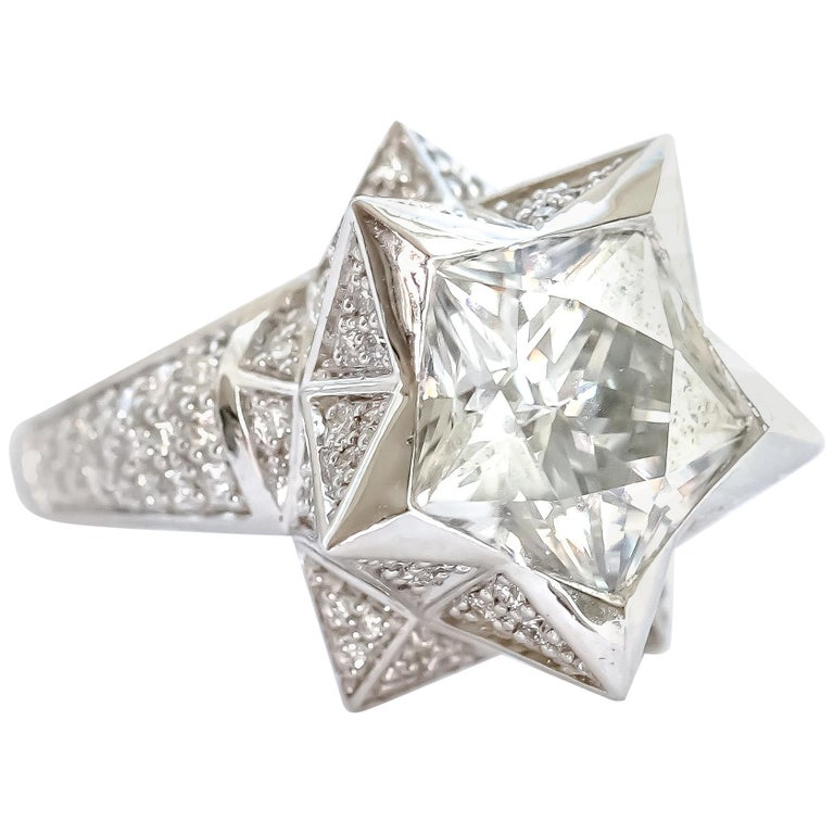 Star Engagement Ring For Sale