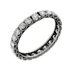 18 Karat White Gold Diamonds Ring