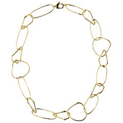 Jona Freeform 18 Karat Yellow Gold Link Necklace