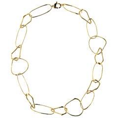 Jona Freeform 18 Karat Yellow Gold Link Necklace
