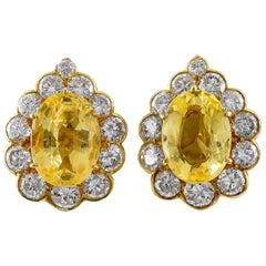 Sapphire Clip-on Earrings