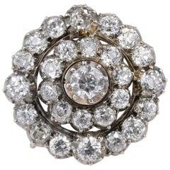 Magnificent Victorian 9.25 Carat Diamond Rare Brooch Pendant, circa 1860