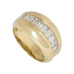Cartier Yellow Gold Bombe Diamond Band Ring .75 carats