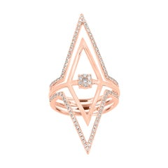 Natural Fancy Pink Diamond Gold Fashion Cocktail Ring
