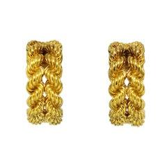 Hermés, 18 Karat Gold Clip-On Earrings, France, circa 1990s