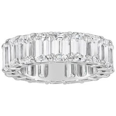 9.94 Carat Total Emerald Cut Diamond Eternity Wedding Band