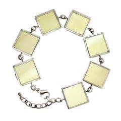 Art Deco Bracelet with Lemon Quartzes, Featured in Vogue