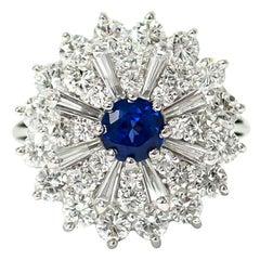 Diamond and Sapphire Ballerina Ring