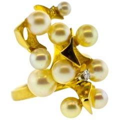 Pearl and Diamond Ring, circa 1970