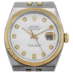 Rolex 17000B Oysterquartz White Pyramid Diamond Dial Wristwatch