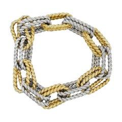 Two-Tone Double Link Bracelet