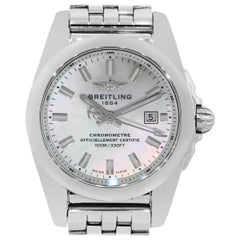 Breitling Galactic W72348 Mother of Pearl Dial Ladies Watch