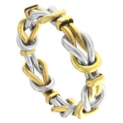 Yellow Gold Double Knot Bracelet 18 Karat