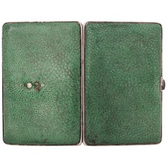 Janesich, Vermeil Covered with Dark Green Galuchat Cigarette Case, circa 1925